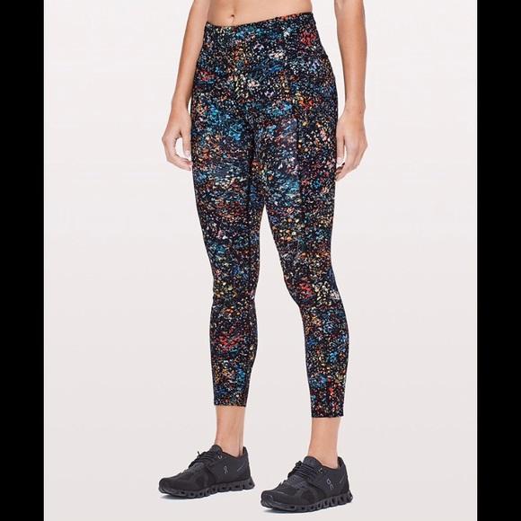 690a2233818ff lululemon athletica Pants - Fast & Free 7/8 Tight (Flowerescent Multi) NWOT